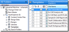 Transmittal Templates in Vault