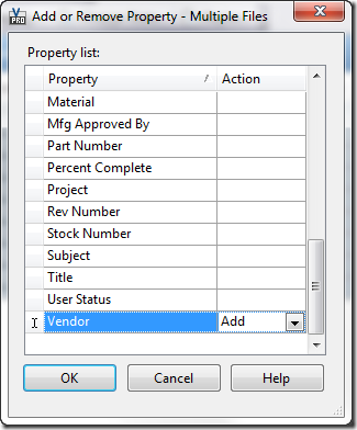 add or remove multiple properties