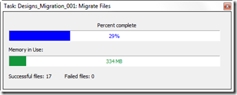 TS Migrate progress