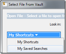 switch shortcuts to saved searches