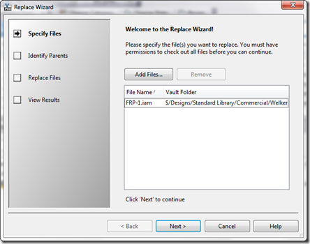 Replace Wizard - Specify Files