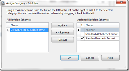 Publisher assign rev scheme