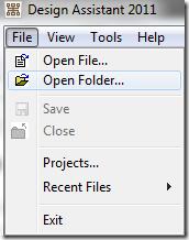 DA Open Folder