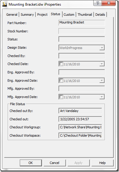 iProp Status tab