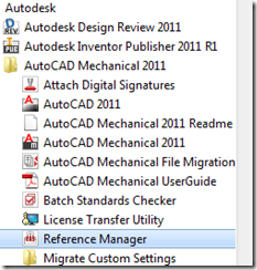 Acad reference manager launch