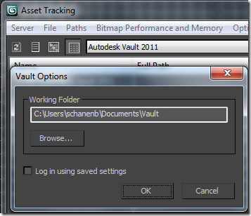 3DS Max set working folder