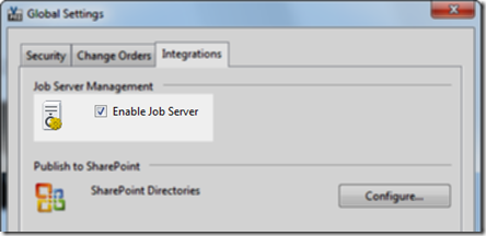 enable Job Server 2