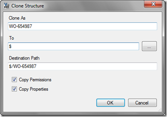 clone structure dialog