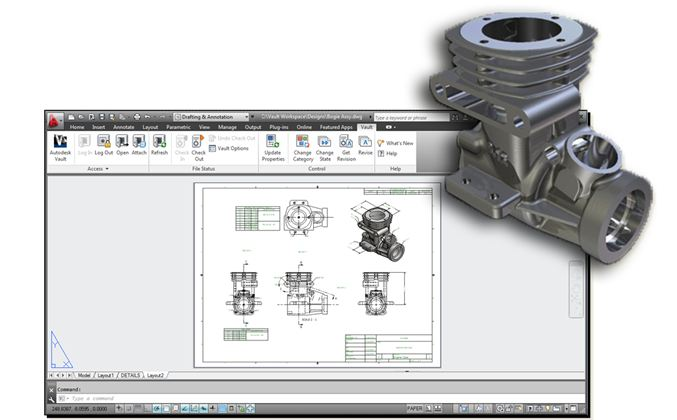inventor in autocad in vault support for model dependencies