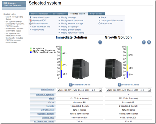 selected system