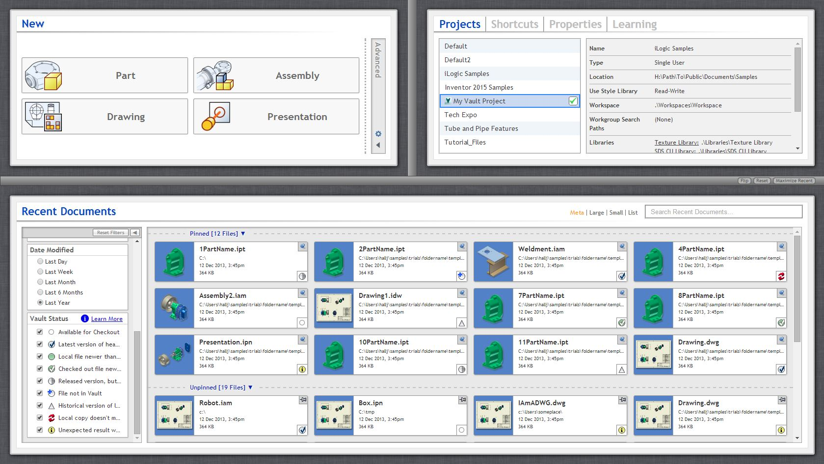 Autodesk Inventor Welcomes Vault Into its Home (Page) - Under the Hood
