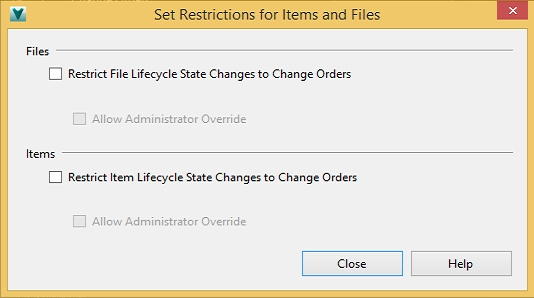 Lifecycle controls