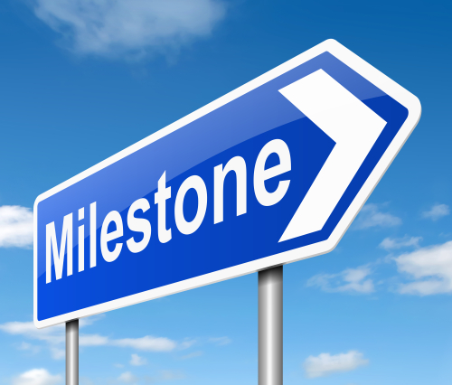 MileStone Sign Stock